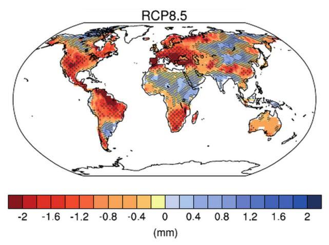 Predicciones para la humedad del suelo en el siglo XXI