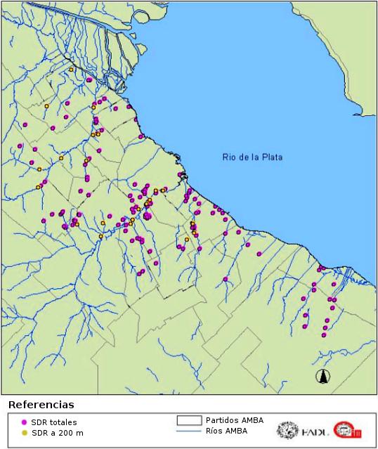 SDR y cursos de agua