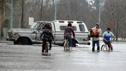 Las inundaciones se estarían extendiendo hacia el noreste del país.