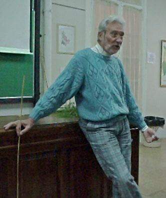 Rolando dictando un seminario en el IFEVA