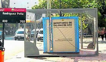 Estación de monitoreo de calidad de aire en CABA