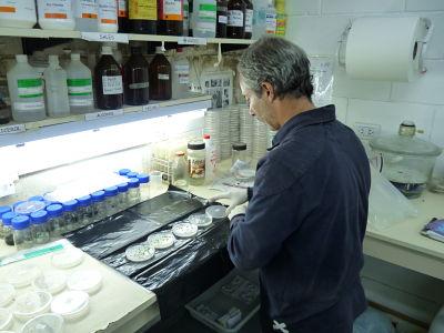 Martín Vila Aiub en el lab