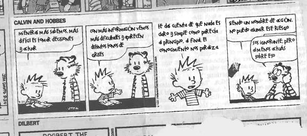 Calvin, Hobbes y el exceso de información