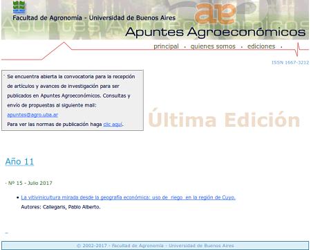 home Apuntes Agroeconómicos