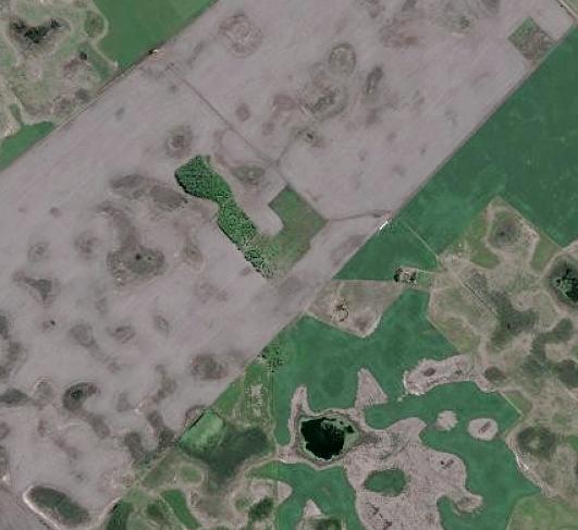 isla de clausuras en un mar agrícola
