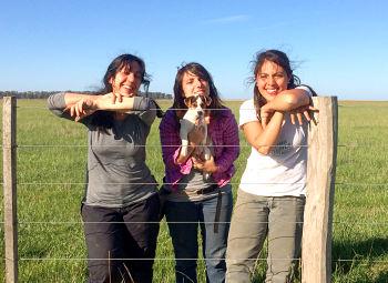 Mazía, Mochi y Aranda, las investigadoras