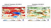 temperatura del aire en la superficie del mar y precipitaciones NDE